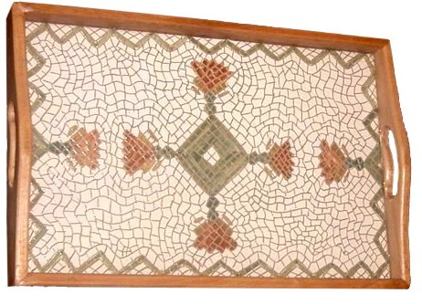 clay mosaic tray